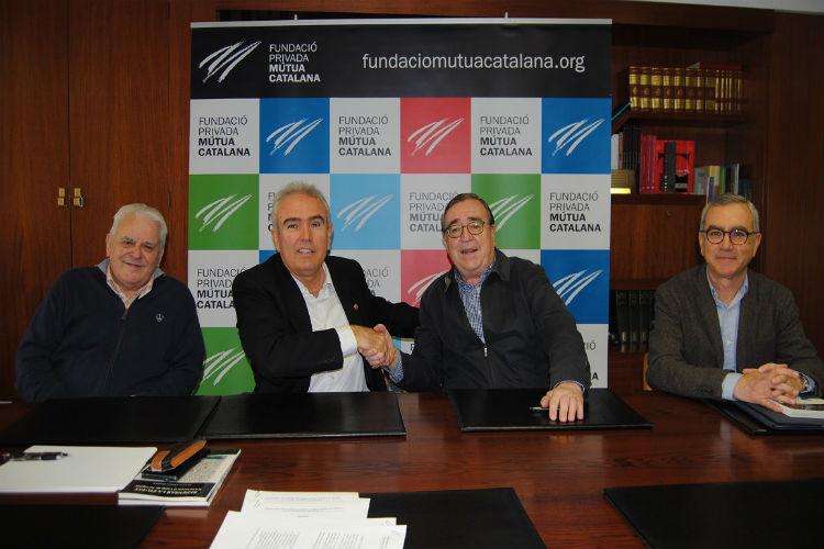 La Fundació Privada Mutua Catalana i el Gremi de Pagesos, representat per Raul Font, han rubricat avui el conveni de col·laboració.
