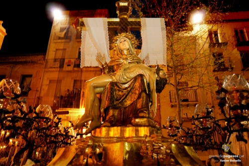 La Pietat a la Plaça del Rei el Divendres Sant